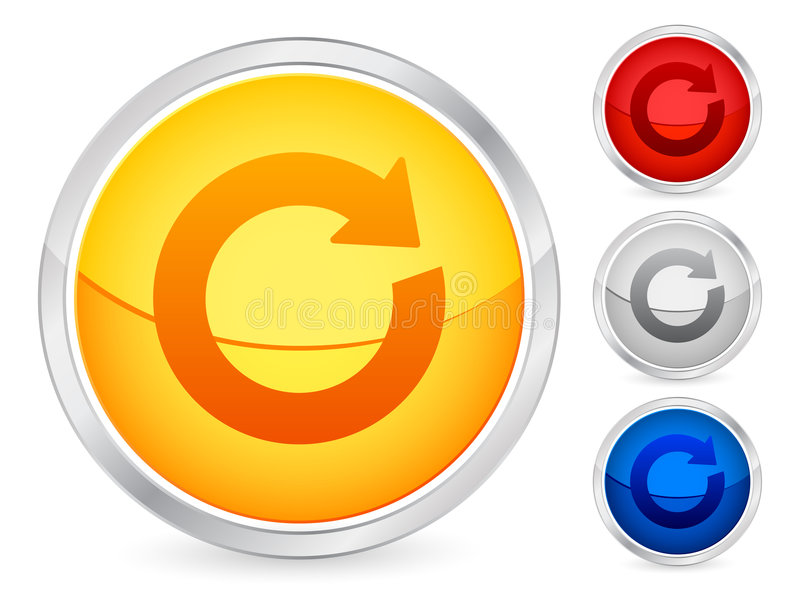 Refresh Button Stock Image