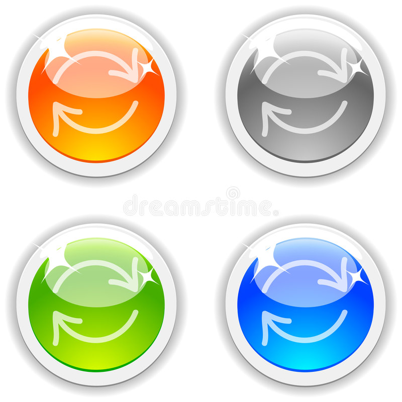 Download Refresh Buttons. Royalty Free Stock Photo - Image: 9166435