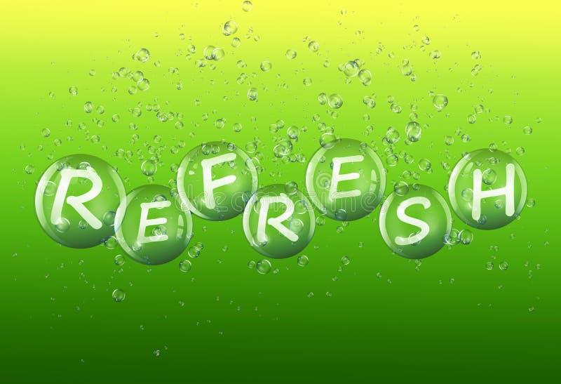 Refresh concept. royalty free illustration