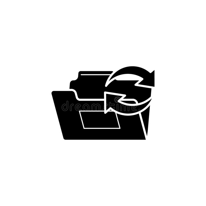Refresh folder icon. Simple glyph, flat vector of Web icons for UI and UX, website or mobile application. On white background royalty free illustration