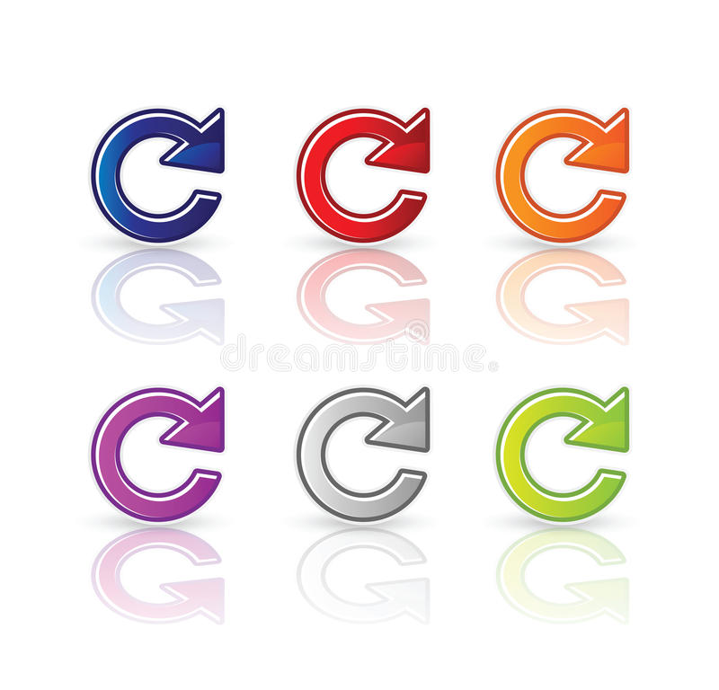 Download Refresh icon stock vector. Illustration of circle, recycle - 18114428