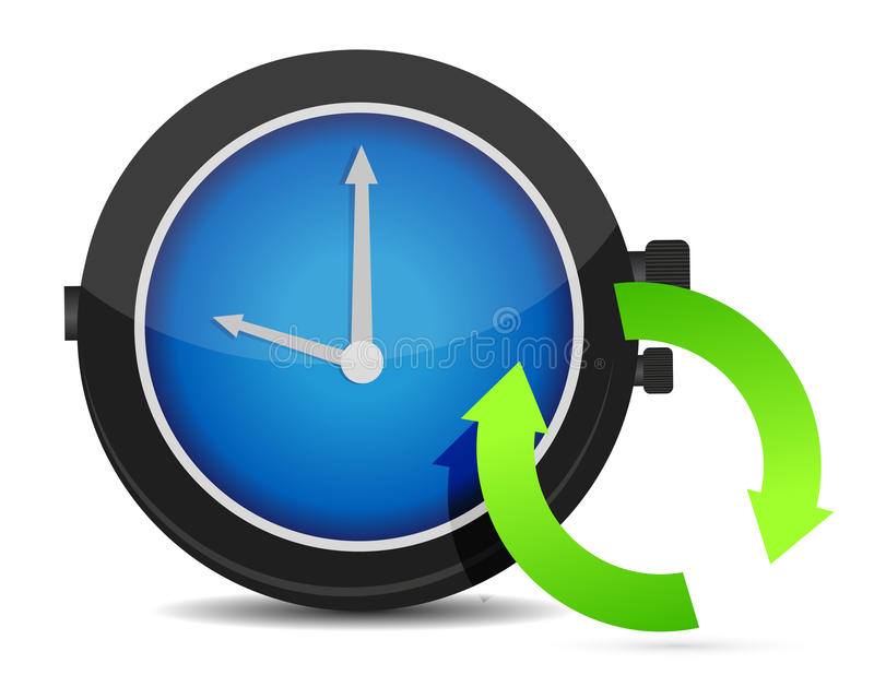 Download Refresh Icon On A Blue Watch Royalty Free Stock Image - Image: 28083426