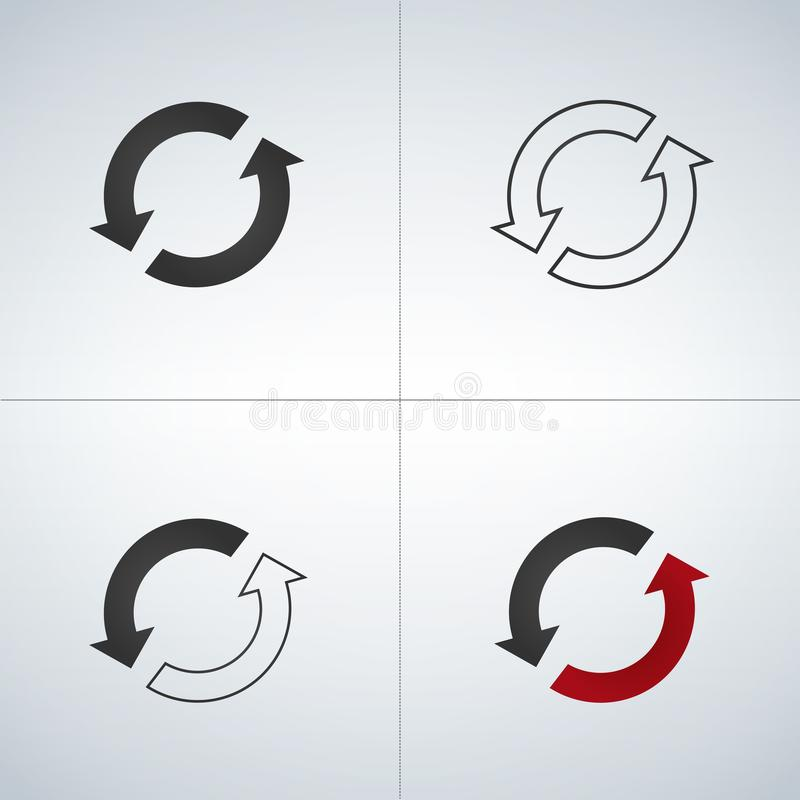 Refresh icon set vector illustration
