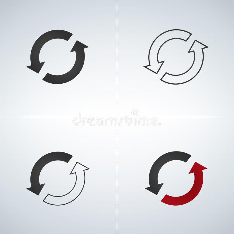 Refresh icon set. Illustration isolated on white background vector illustration