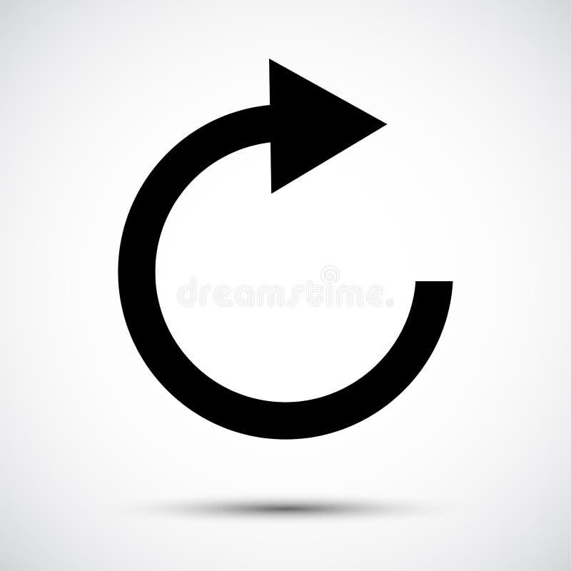 Refresh Icon Symbol Sign Isolate on White Background,Vector Illustration EPS.10 stock illustration
