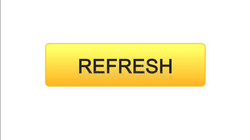 Refresh web interface button orange color, internet site design, innovation idea. Stock footage stock illustration