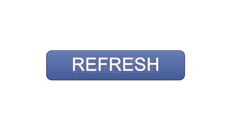 Refresh web interface button violet color, internet site design, innovation idea. Stock footage stock illustration