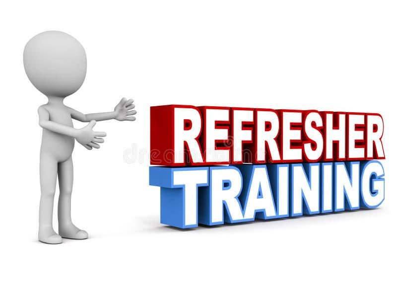 Refresher szkolenie royalty ilustracja