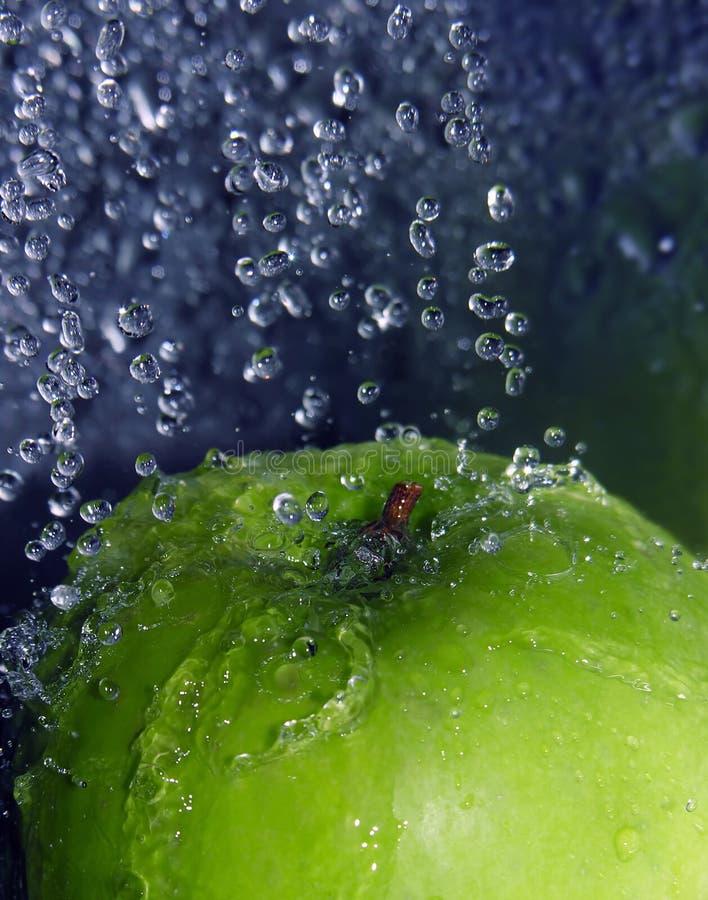 Download Refreshing apple stock photo. Image of splashing, dropping - 3590608