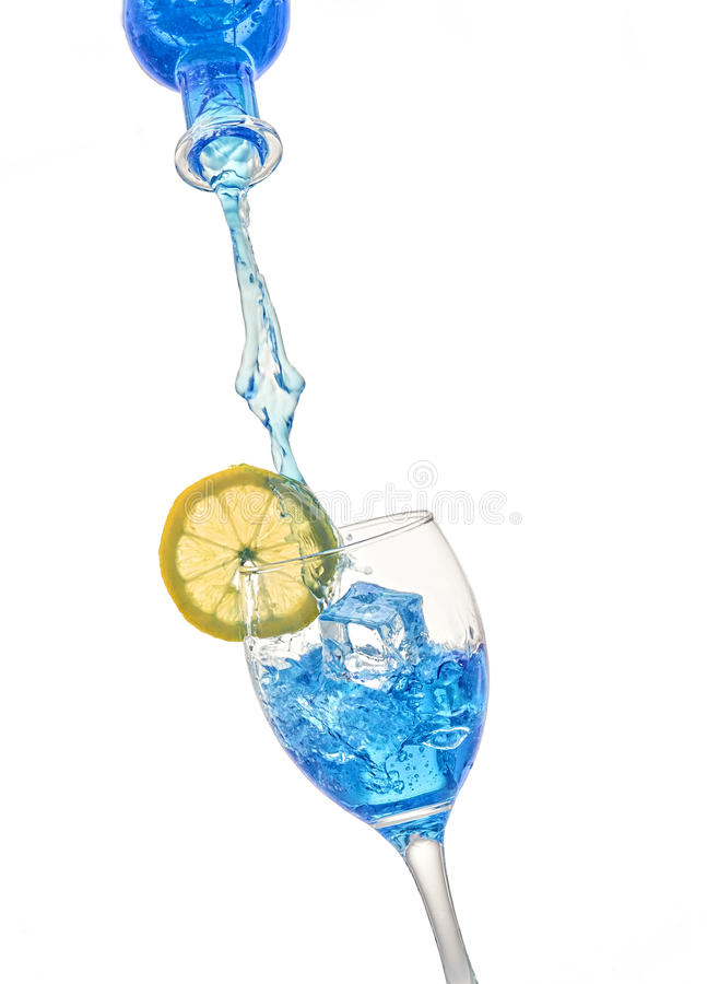 Refreshing blue drink royalty free stock photo