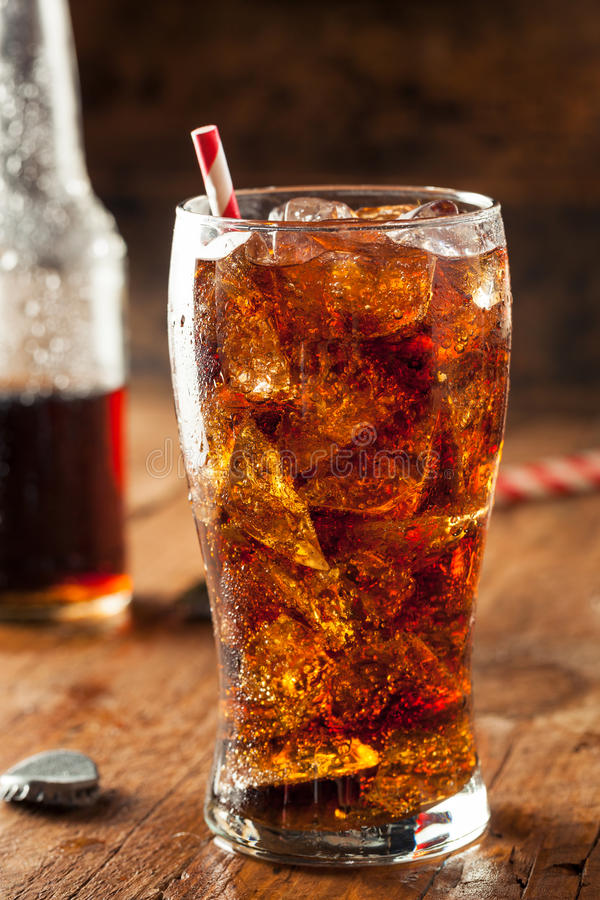Refreshing Bubbly Soda Pop stock photos