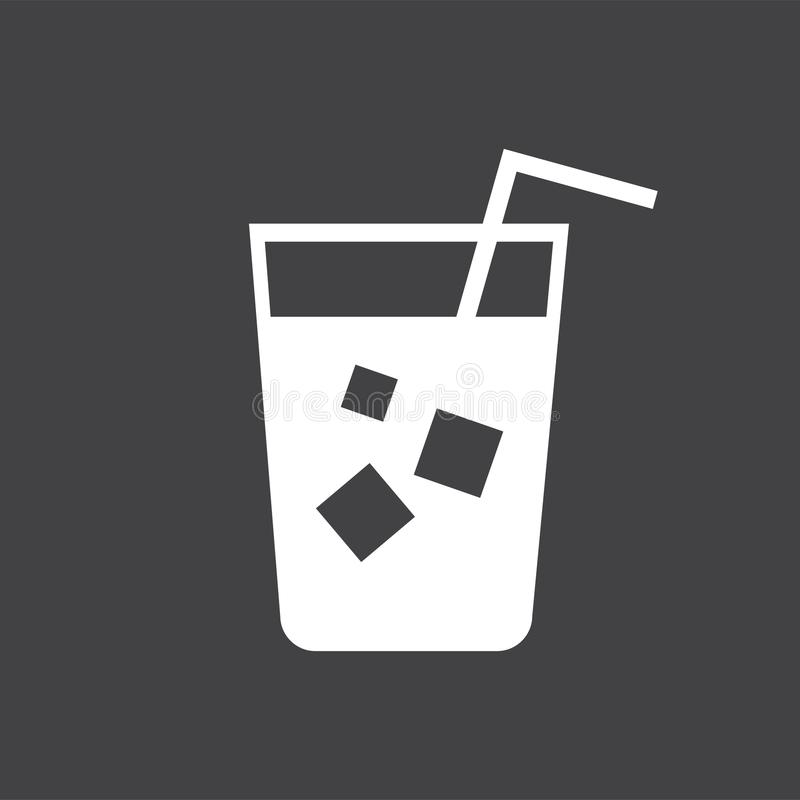 Refreshing cold drink with a straw illustration vector illustration