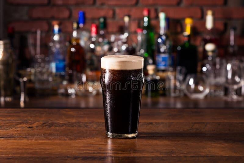 Refreshing Dark Stout Craft Beer royalty free stock images