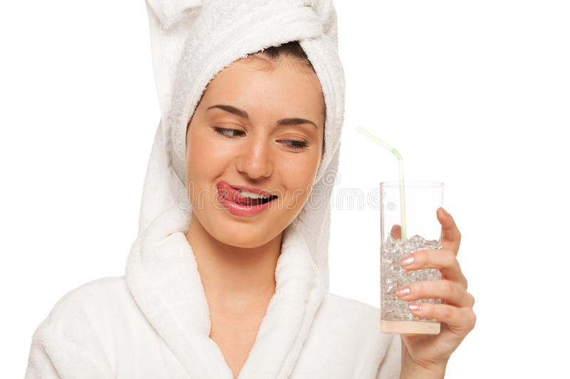 Download Refreshing drink stock image. Image of looking, hair - 26348371