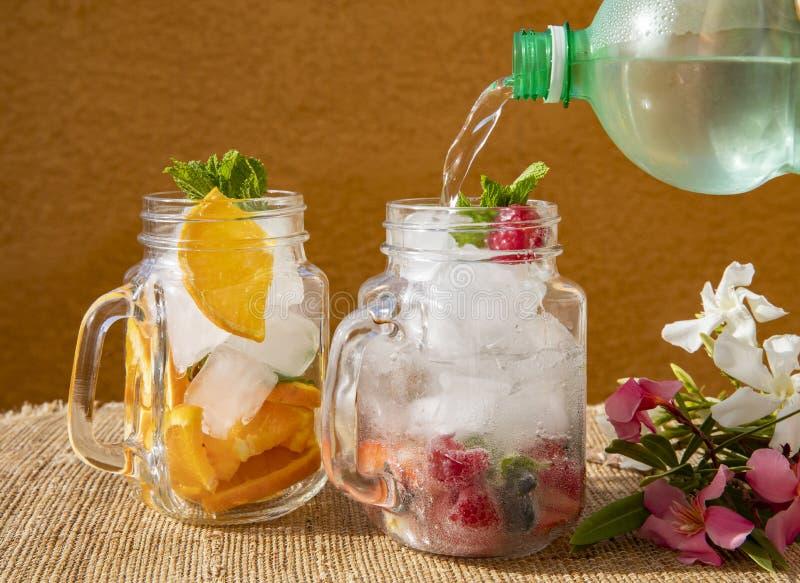 Summer drinks have bright tastes royalty free stock photos