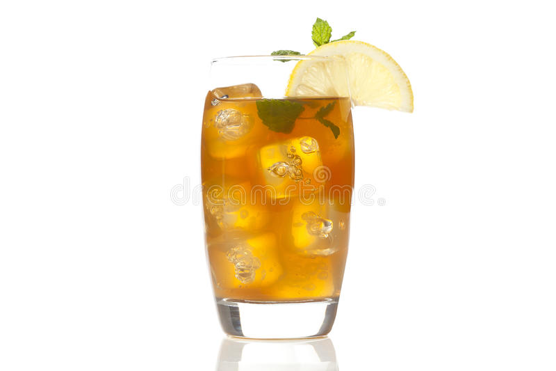 Refreshing Iced Tea with Lemon stock photography