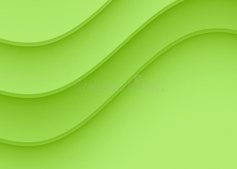 Refreshing lime green smooth gentle curves abstract background design vector illustration