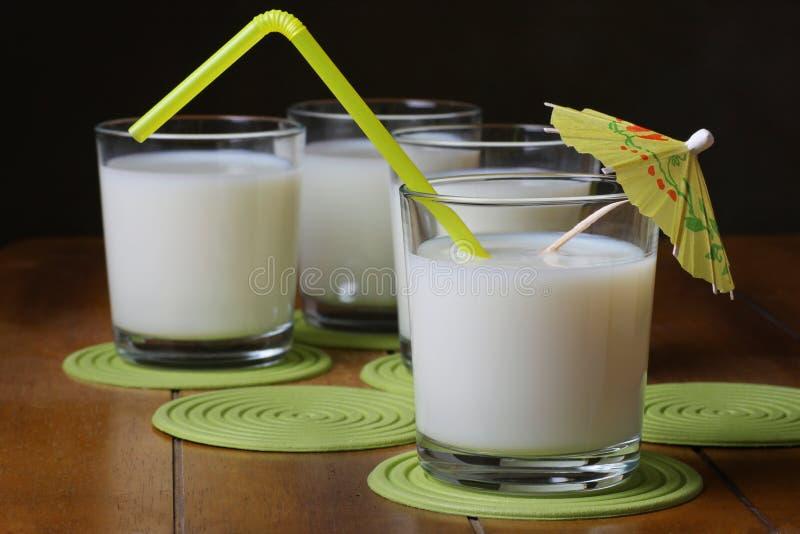 Download Refreshing milk stock image. Image of yellow, four, straw - 19174581