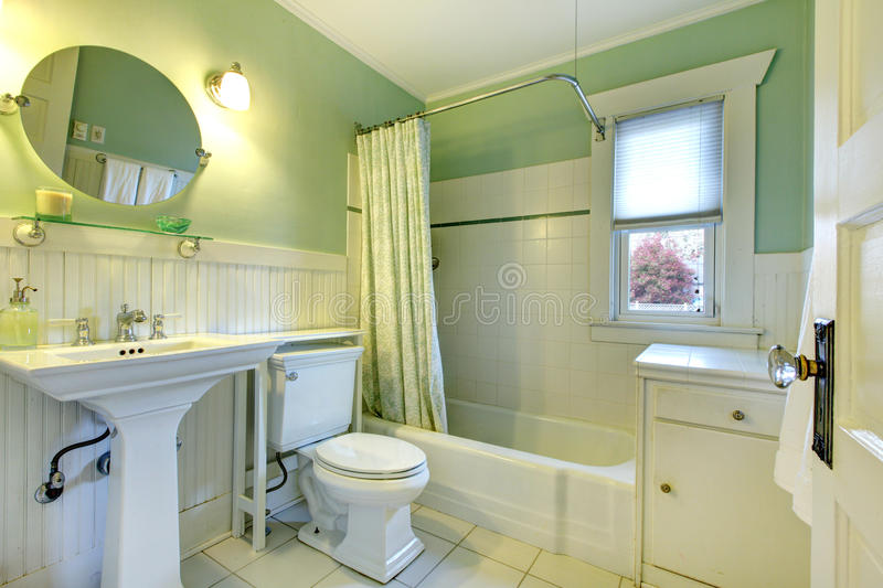 Refreshing Mint Bathroom Stock Photo Image Of Bath