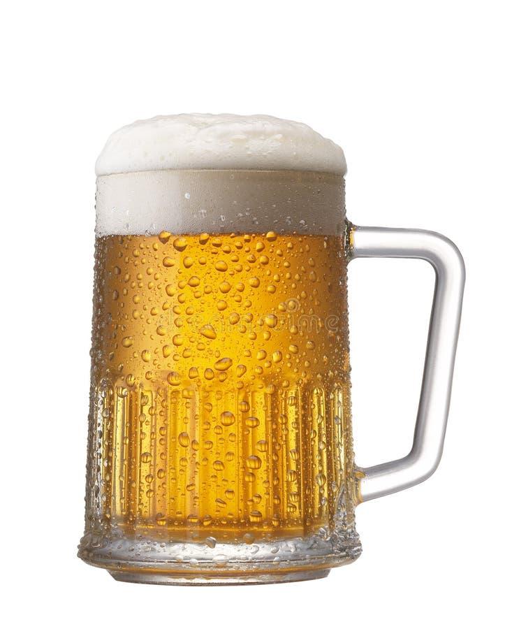 Refreshing mug of beer stock images