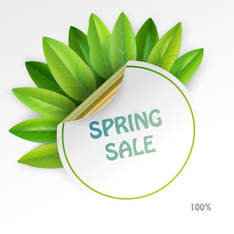 Refreshing sale label vector illustration