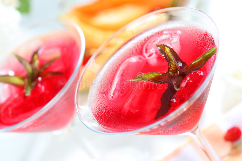 Download Refreshing summer cocktail stock photo. Image of herb - 14671438