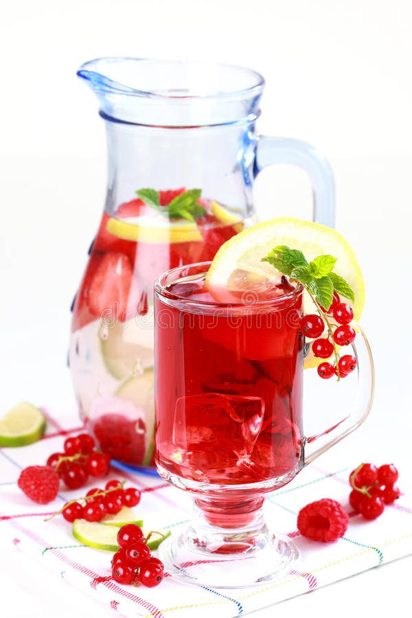 Refreshing Summer Ice Tea Royalty Free Stock Photos