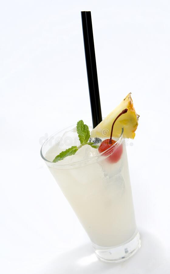 A Refreshing White Rum Cocktail On White Stock Image Image Of Refreshing Tropical 185550451