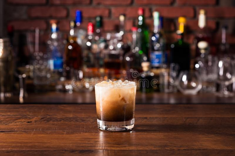 Refreshing White Russian Cocktail stock photos