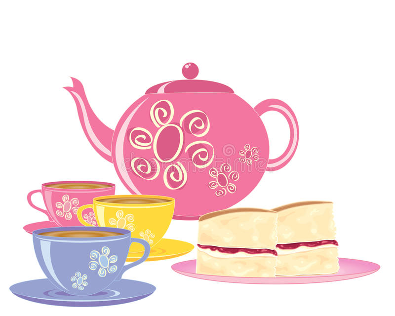 Pink And White Sponge Cake