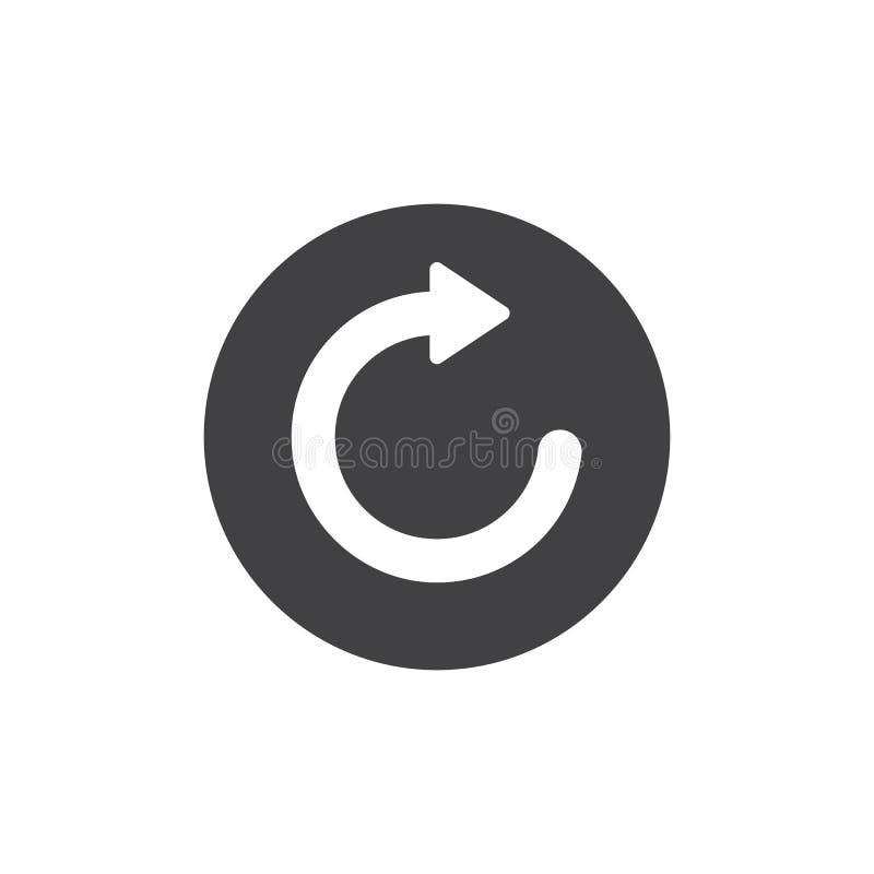 Refresque e recarregue o vetor do ícone da seta ilustração do vetor
