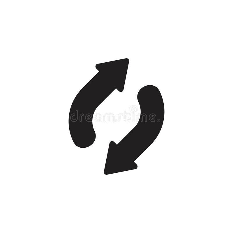 Refresque oposto ao vetor do logotipo da seta fotografia de stock royalty free