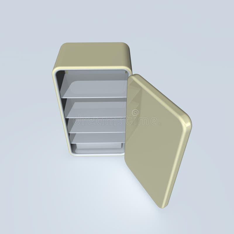 Refrigerador ilustração do vetor