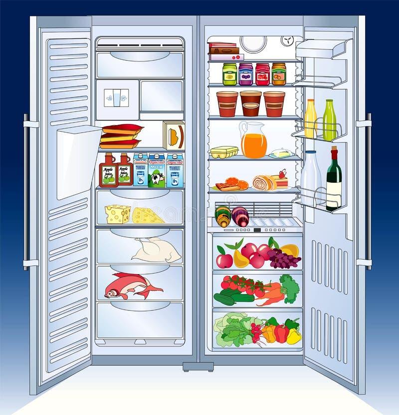Refrigerador ilustración del vector