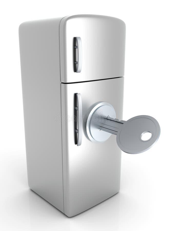 Refrigerador bloqueado libre illustration