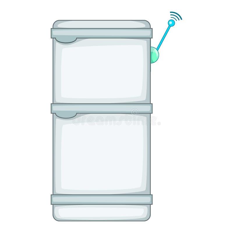 Refrigerador con el icono de la conexión de los wi fi stock de ilustración