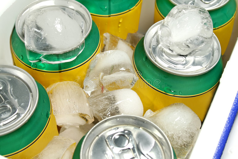 Refrigerador das bebidas foto de stock