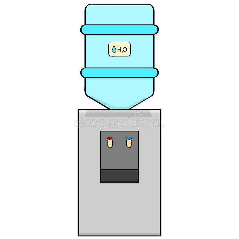 Refrigerador de água ilustração royalty free
