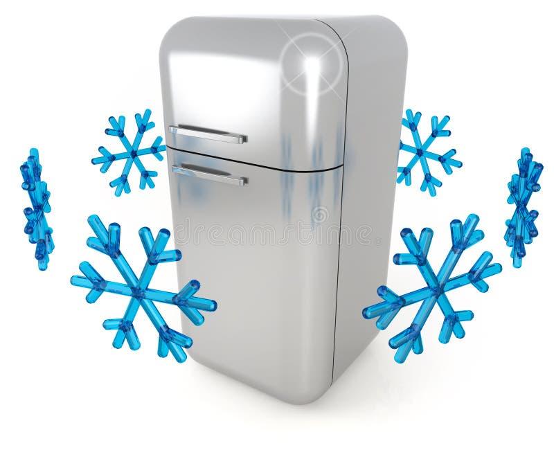 Refrigerador de acero stock de ilustración