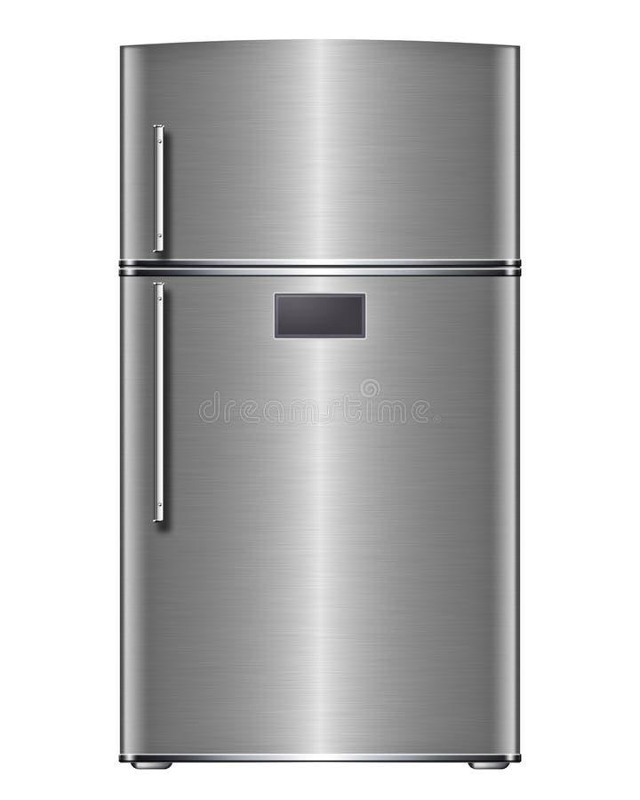 Refrigerador de acero moderno libre illustration