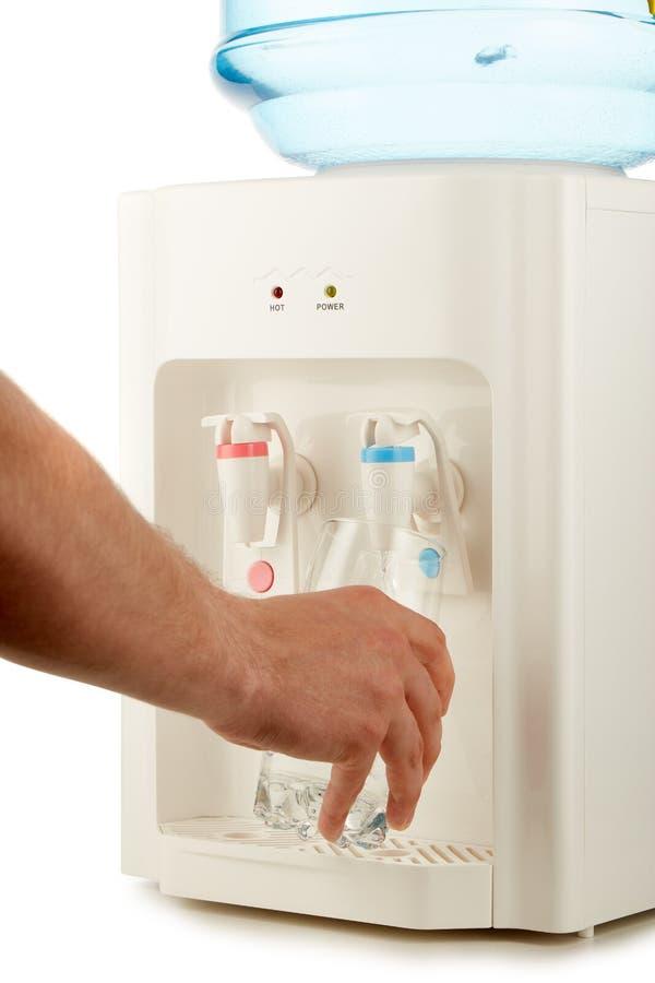 Refrigerador de agua con agua pura fotos de archivo