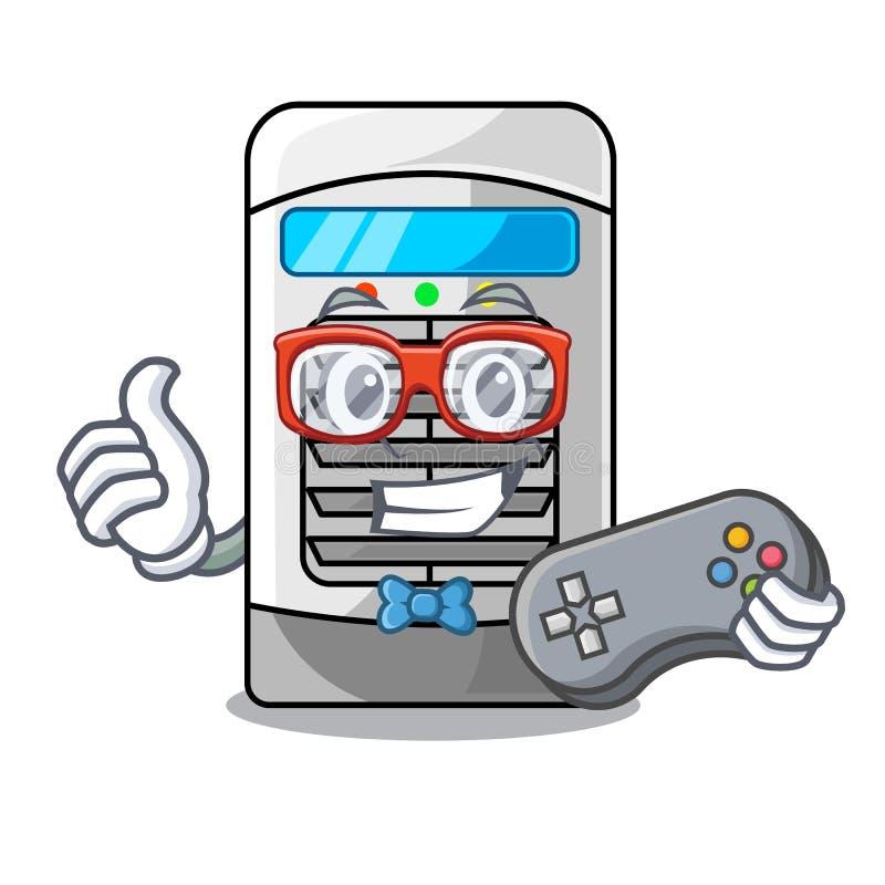 Refrigerador de ar do Gamer isolado com os desenhos animados ilustração do vetor