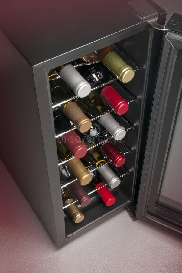 Refrigerador de vino foto de archivo libre de regalías