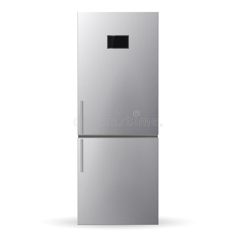 Refrigerador del acero inoxidable refrigerador ilustración del vector