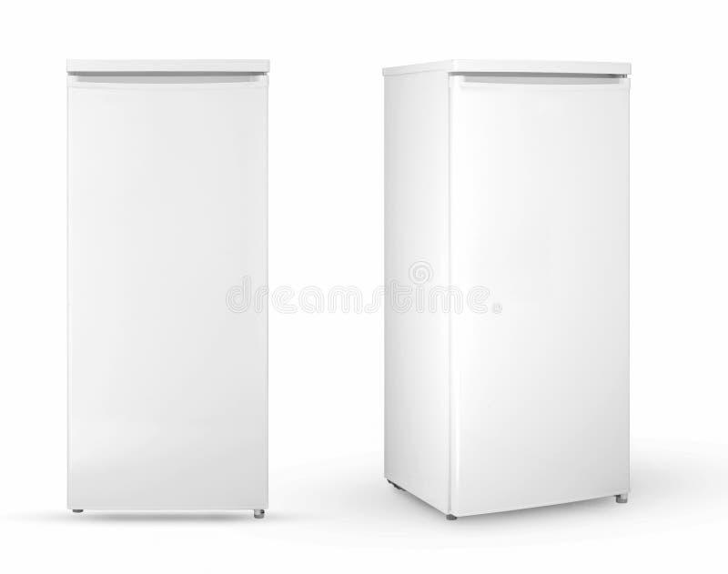 Refrigerador del hogar en un fondo blanco libre illustration