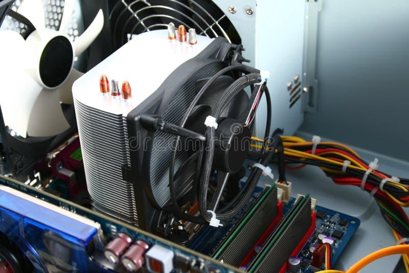 Refrigerador del procesador fotografía de archivo libre de regalías