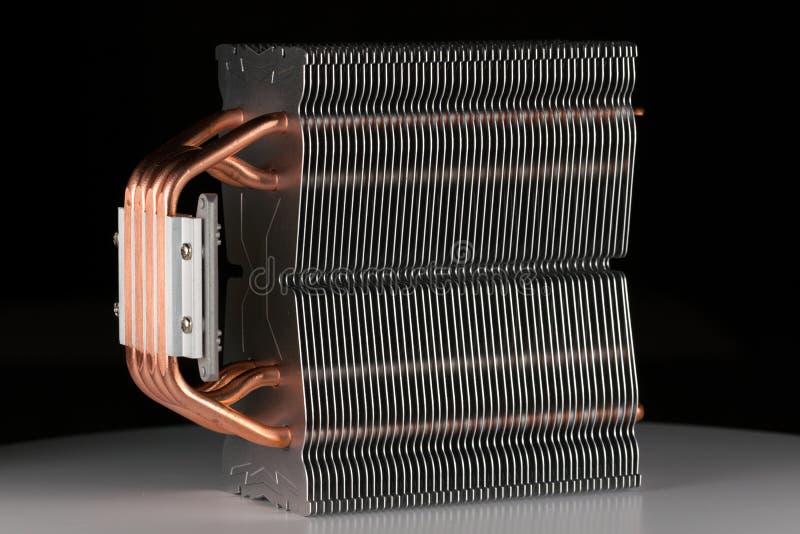 Refrigerador del procesador del ordenador o radiador o disipador de calor moderno imagen de archivo