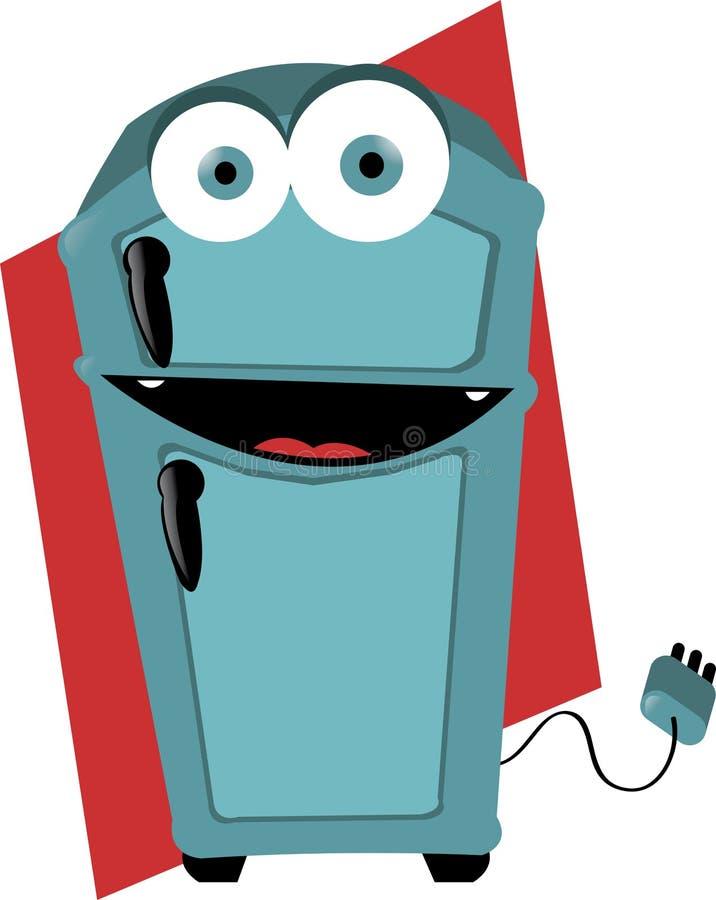 Refrigerador divertido ilustración del vector