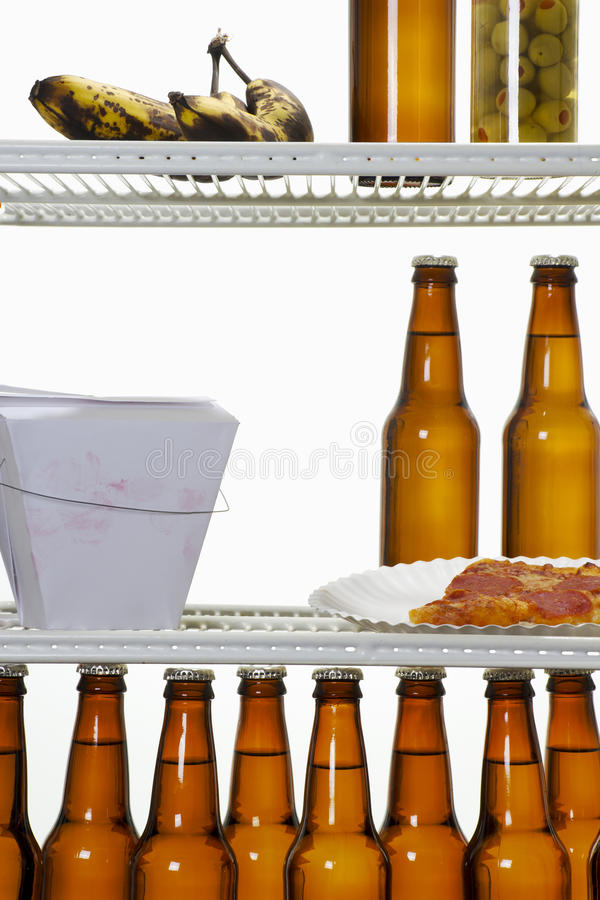 Refrigerador do único homem fotos de stock