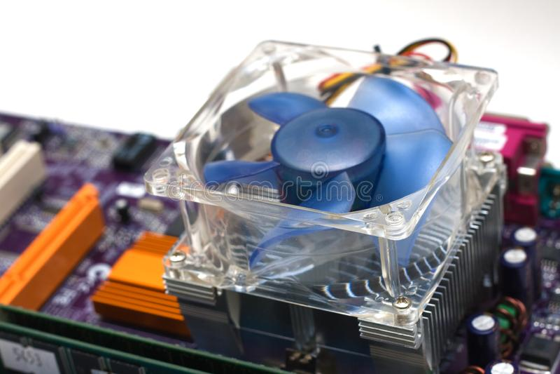 Refrigerador do processador central do computador foto de stock royalty free